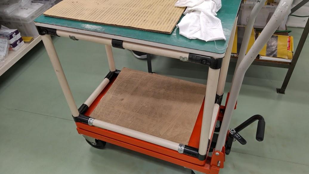 昇降台車用嵩上げテーブル製作
